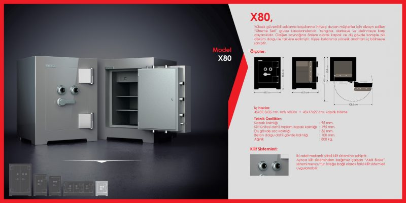 X80 Para Kasası