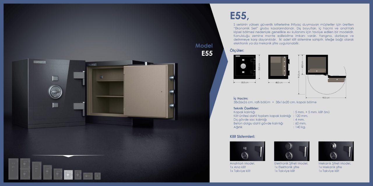 E55 Ekonomik Çelik Para Kasası