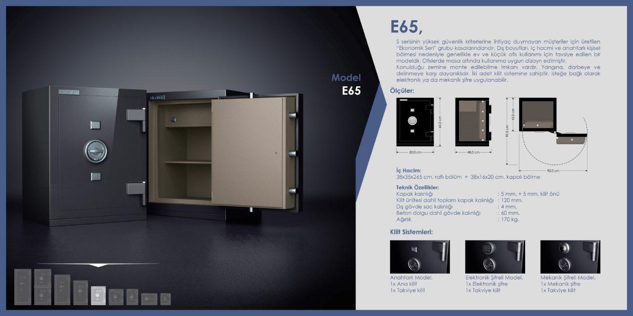 E65 Ekonomik Çelik Para Kasası