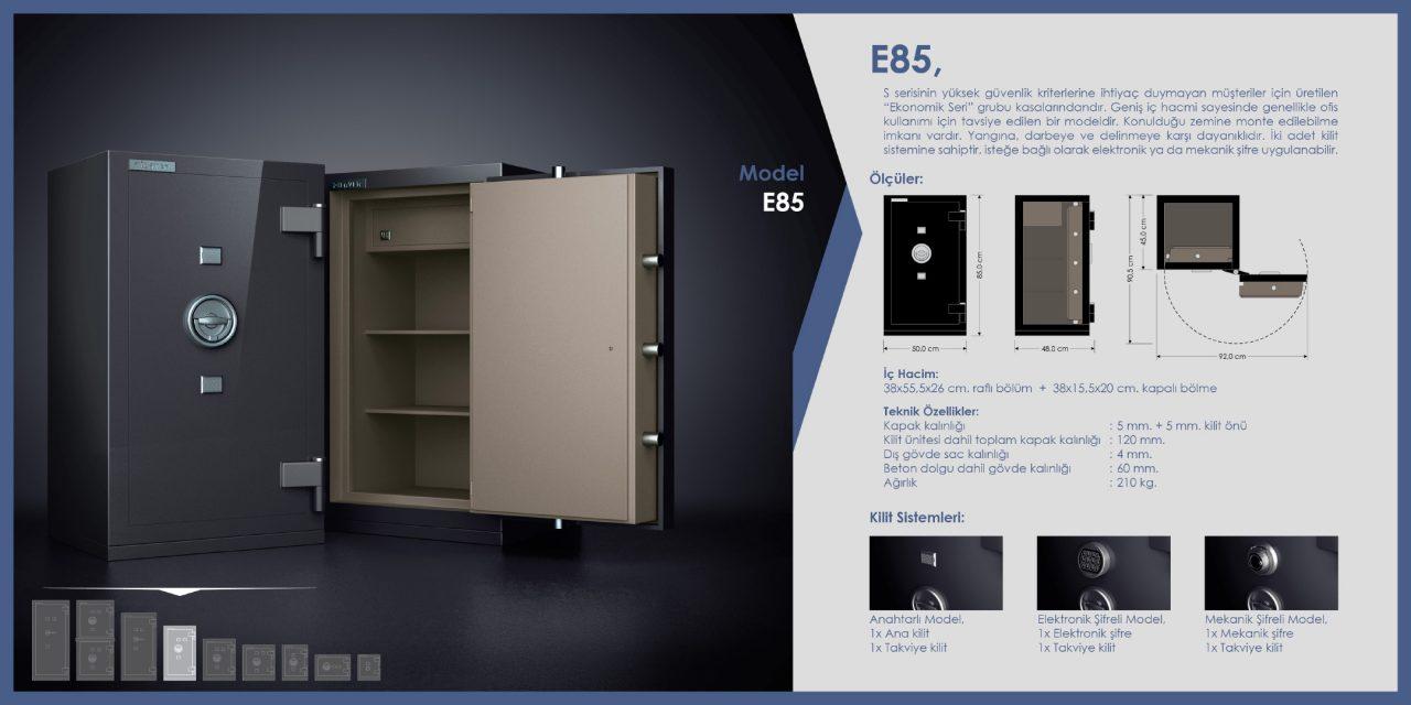 E85 Ekonomik Çelik Para Kasası