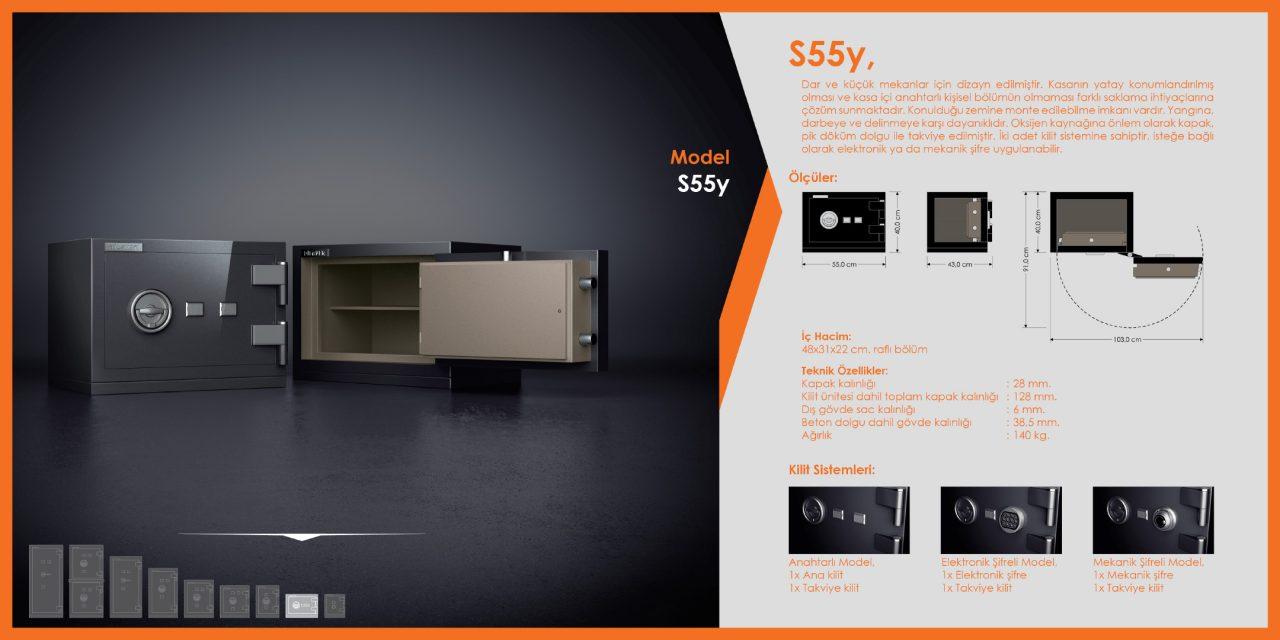S55y Standart Çelik Para Kasası