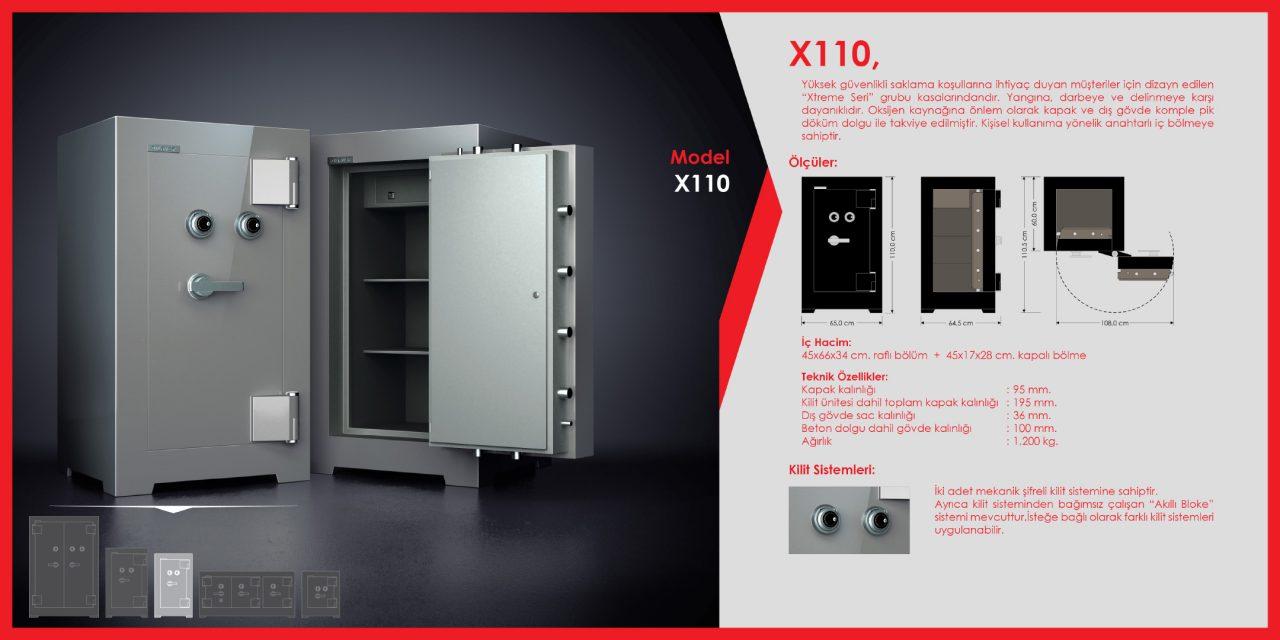 X110 Xtreme Çelik Para Kasası