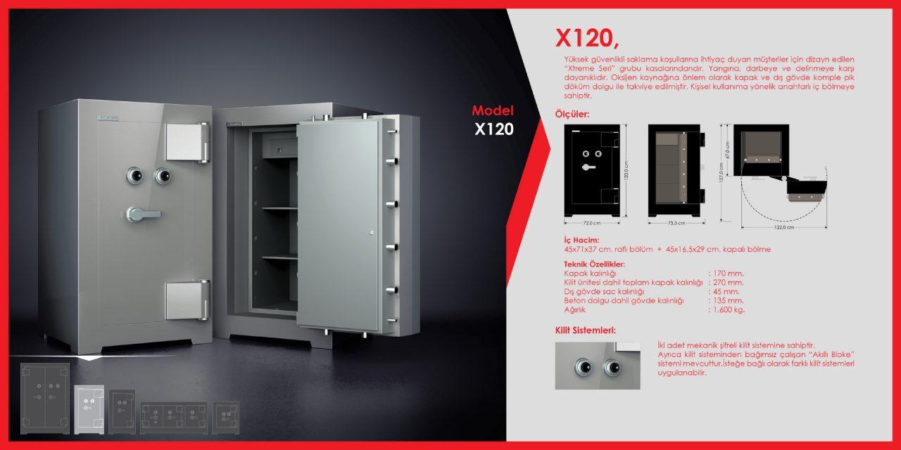 X120 Xtreme Çelik Para Kasası