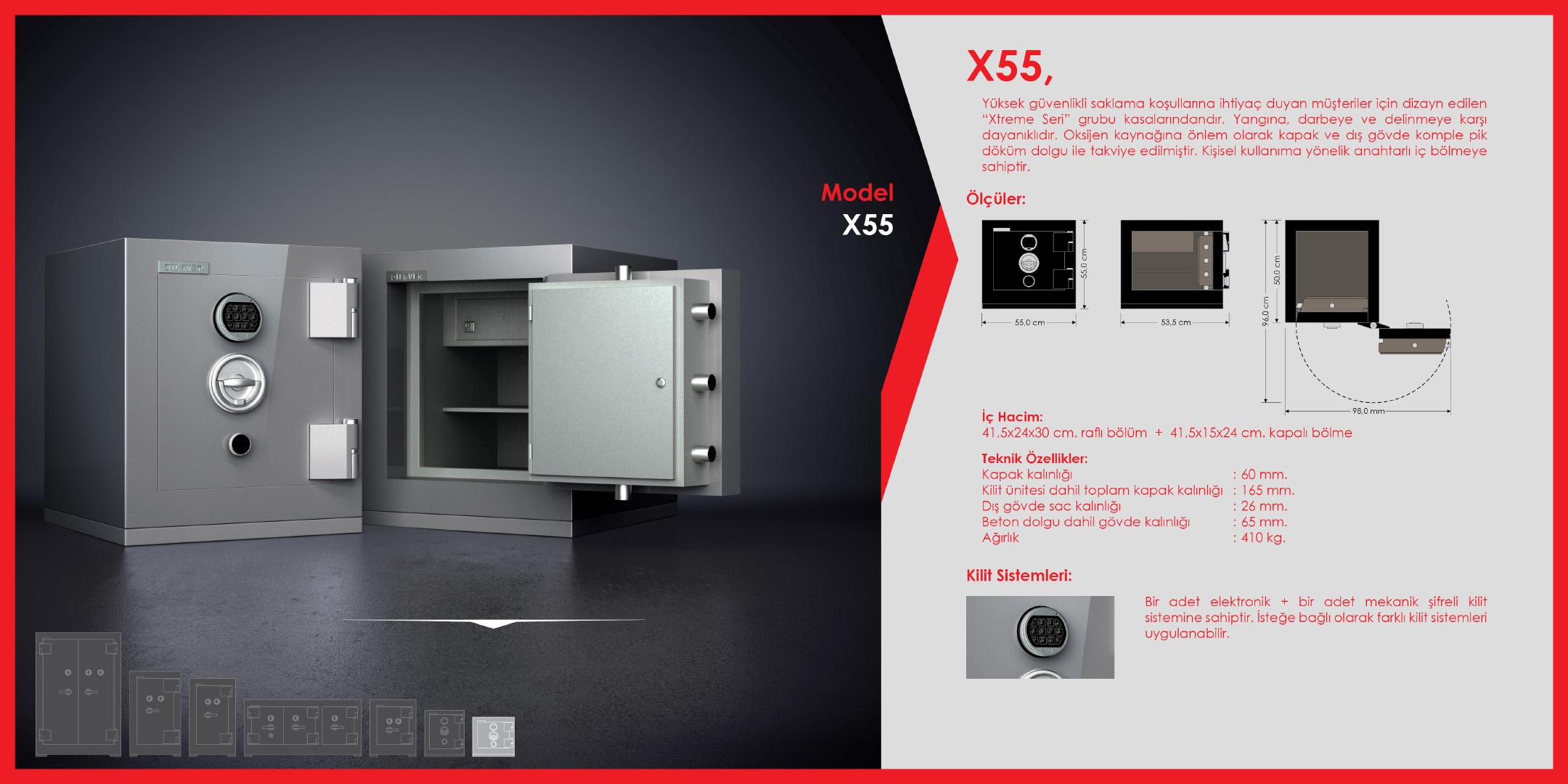X55 Para Kasası