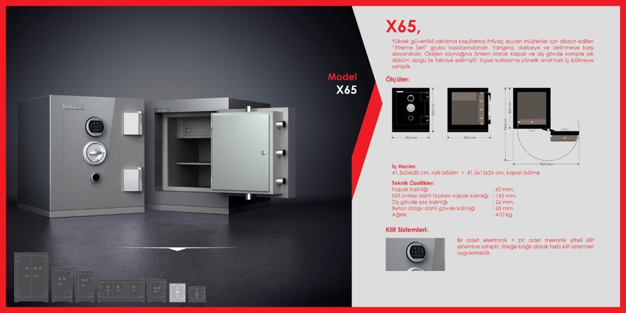 X65 Xtreme Çelik Para Kasası
