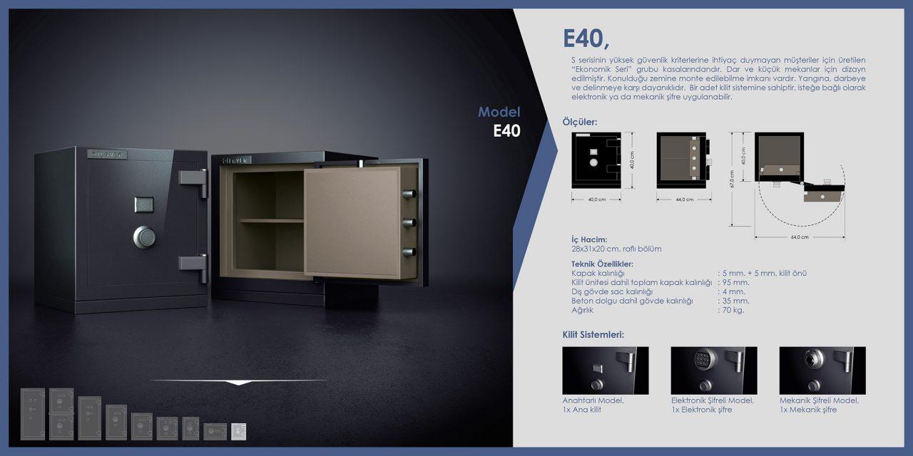 E40 Ekonomik Çelik Para Kasası